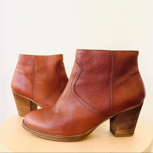 Madewell Ankle Leather Booties with Side Zippers